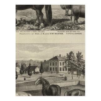 Carte Postale Propriété de McAfee, Topeka McCrumb, le Kansas