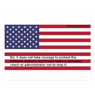 Carte Postale Protestations d'hymne national