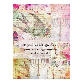 Carte Postale Proverbe Yiddish célèbre avec l'art orienté de