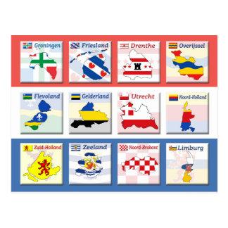 Carte Postale Provinces néerlandaises