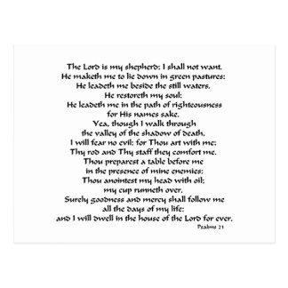 Carte Postale Psaumes 23