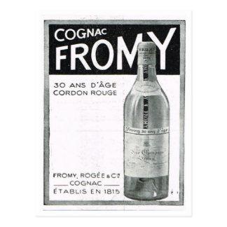Carte Postale Publicité, cognac Fromy