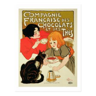 Carte Postale Publicité par affichage French Company de chocolat