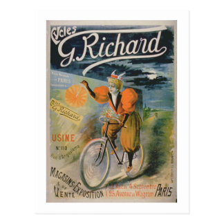 "Carte Postale Publicité par affichage ""G. Richard Cycles"", Paris"