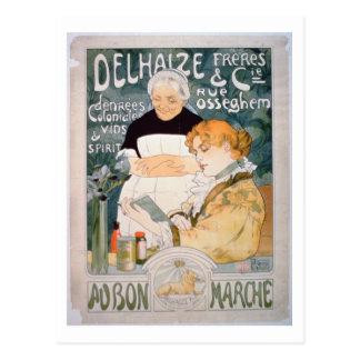 Carte Postale Publicité pour Delhaize, frères et Cie. au Th