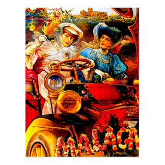 Carte Postale Publicité vintage d'automobile de ~ de Malaga