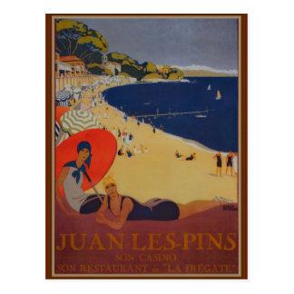 Carte Postale Publicité vintage de voyage de Français