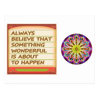 Carte Postale Puissance de la pensée positive de l'intention n