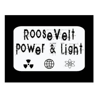 Carte Postale Puissance de Roosevelt et blanc léger