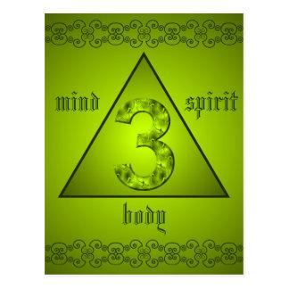 Carte Postale Puissance holistique d'esprit de corps d'esprit du
