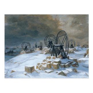Carte Postale Puits chez Gentilly dans la neige, 1879