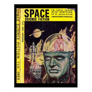 Carte Postale _Pulp de la fiction v01 n04 (1953-02.Space) de la