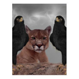 Carte Postale Puma avec des aigles