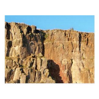 Carte postale pure de visage de falaise