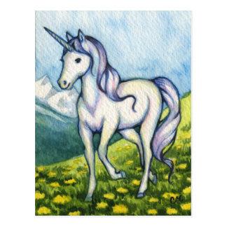 Carte Postale Pureté - art d'imaginaire de licorne