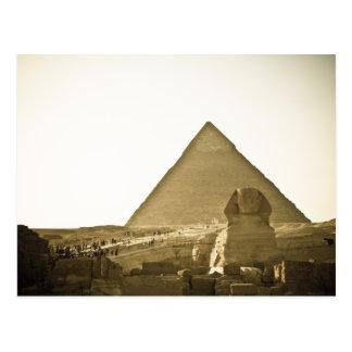Carte Postale Pyramides à Gizeh au Caire, Egypte