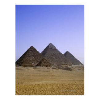 Carte Postale Pyramides dans le désert le Caire, Egypte