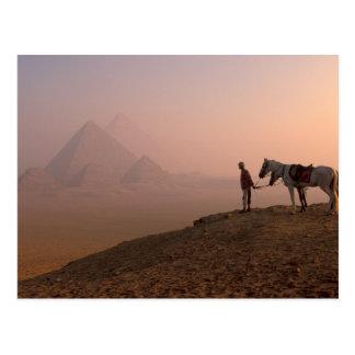 Carte Postale Pyramides de l'Afrique, Egypte, le Caire, Gizeh,