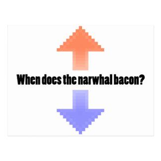 Carte Postale Quand fait la question d'Upvote Reddit de lard de