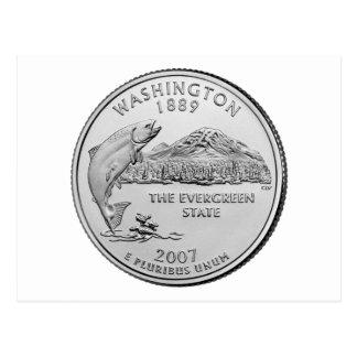 Carte Postale Quart de l'état de Washington
