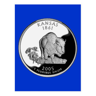 Carte Postale Quart d'état du Kansas