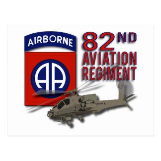 Carte Postale quatre-vingt-deuxième Régiment Apache d'aviation