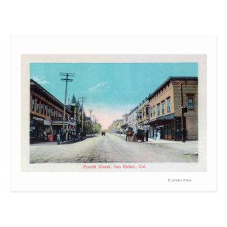 Carte Postale Quatrième rue ViewSan Rafaël, CA