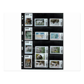 Carte Postale Quelques timbres de coutume de Zazzle par dorinco