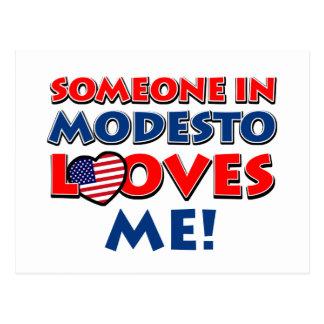 Carte Postale Quelqu'un à Modesto m'aime