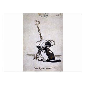 Carte Postale Qui peut penser à lui ? par Francisco Goya