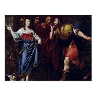 Carte Postale Rahab et les émissaires de Joshua
