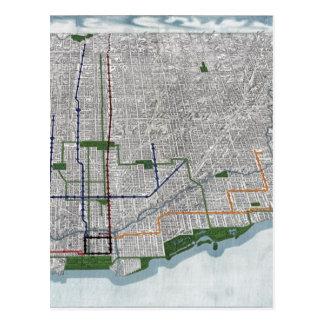 Carte Postale Rails élevés et les parcs de Chicago 1908