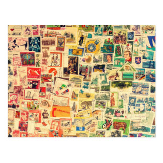 Carte Postale Rainbow Stamps