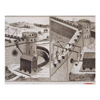 Carte Postale RAM de battage romaines, du 'DES S d'Encyclopedie