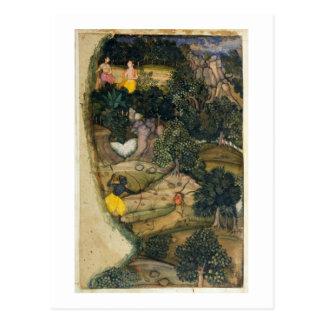 Carte Postale Rama chassant les cerfs communs d'or, du