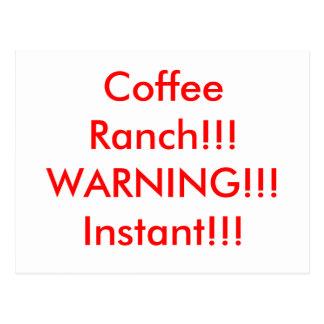 Carte Postale Ranch de café
