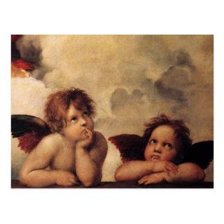 Carte Postale Raphael, ange de Sistine