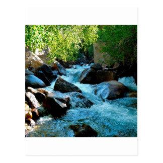 Carte Postale Rapide rocheuse de rivière de l'eau