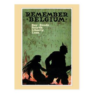 Carte Postale Rappelez-vous la propagande de la Belgique