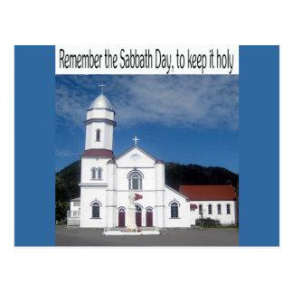 Carte Postale Rappelez-vous le jour de sabbat