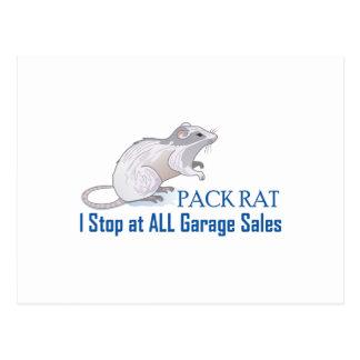 CARTE POSTALE RAT DE PAQUET