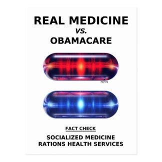 Carte Postale Rationnement de soins de santé