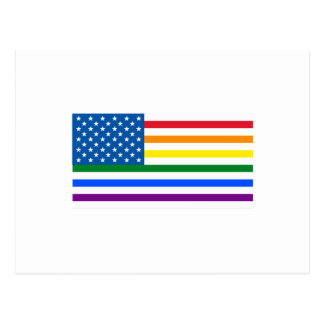 Carte Postale Rayures de drapeau des USA de gay pride - rouges,