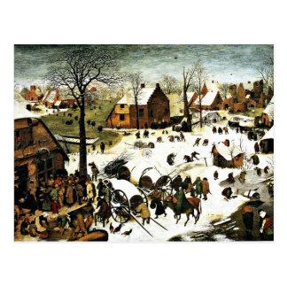Carte Postale Recensement à Bethlehem-1566, Pieter l'aîné