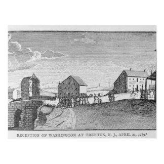 Carte Postale Réception de Washington à Trenton, New Jersey