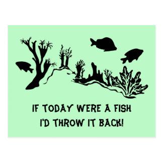 Carte Postale Récif coralien avec la natation de poissons