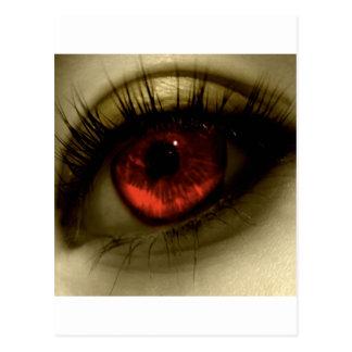 Carte Postale Red Eye frais abstrait