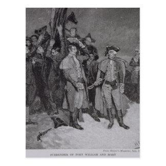 Carte Postale Reddition de Fort William et de Mary