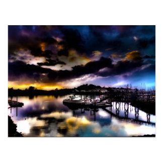 Carte Postale Réflexion de coucher du soleil