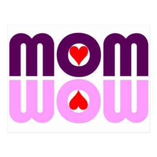 Carte Postale Réflexion mignonne de maman avec des coeurs